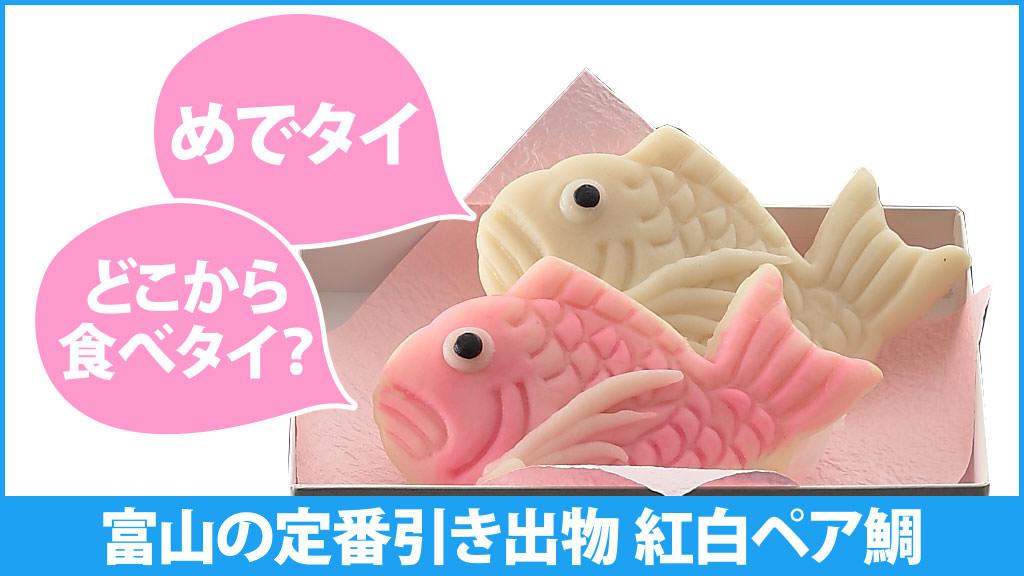 富山の定番引き出物 めでタイ「紅白ペア鯛」